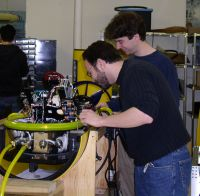 Matt and Gil with part of an AUV