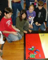 robotic frogs at the Simple Machines competition