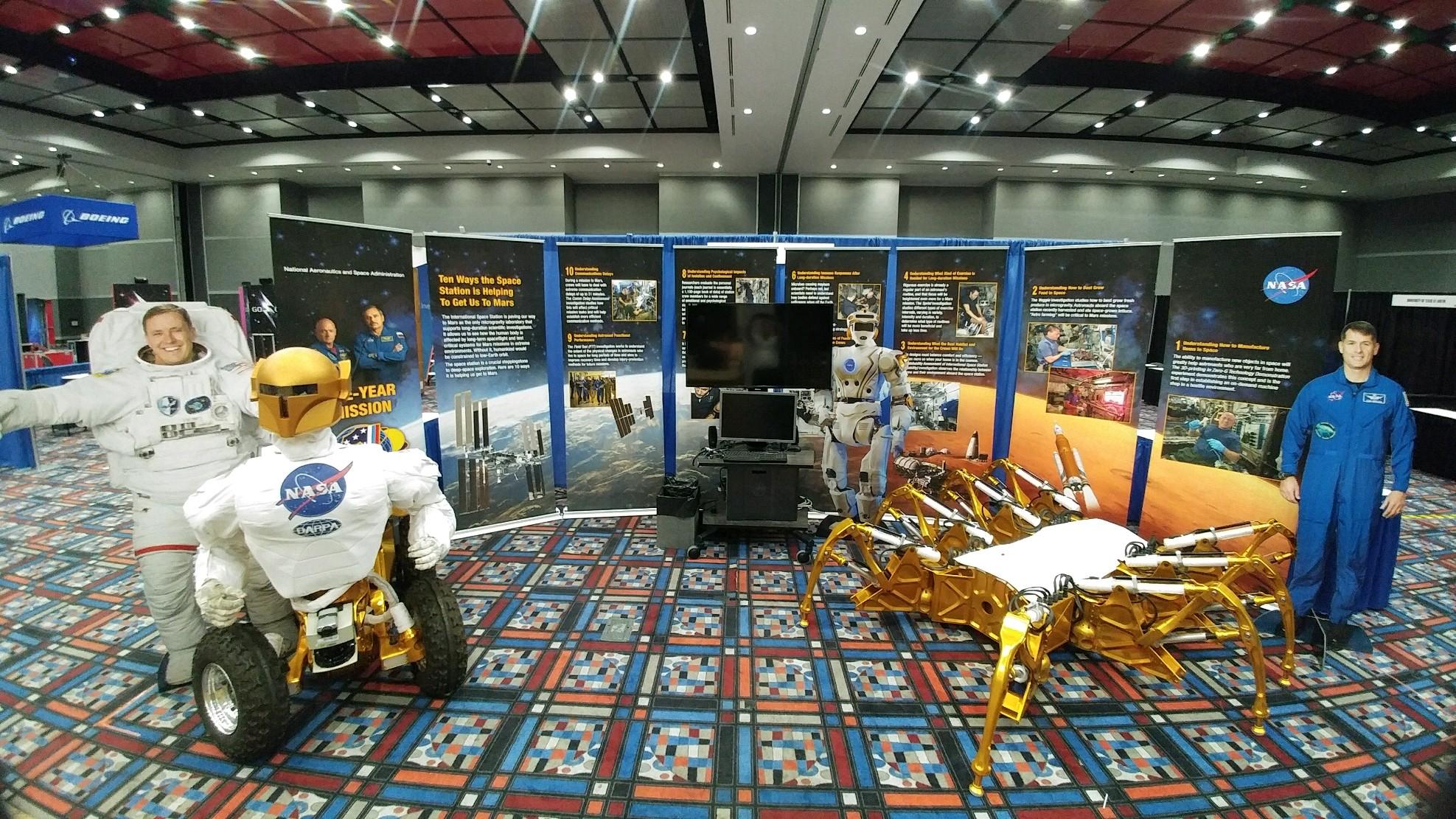 NASA Spidernaut and Centaur exhibit at FRC Innovation Faire Houston, TX