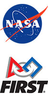 NASA meatball and FIRST logos