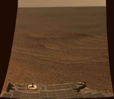 View from NASA's Opportunity Rover